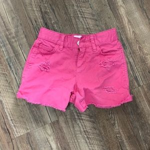 NWOT Girl's Distressed Denim Shortie Shorts